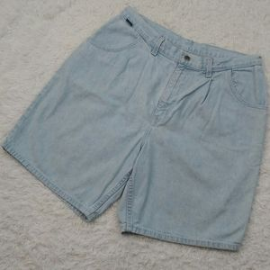 Chic Vintage Light Wash High Waisted Jean Shorts